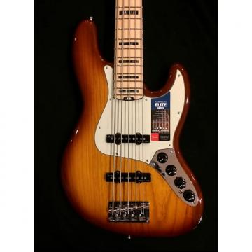 Custom Fender American Elite Jazz Bass V 2016 2-Color Sunburst w/ Maple Fretboard