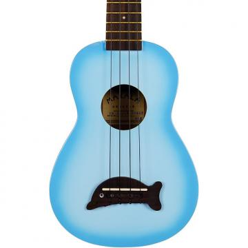 Custom Makala MK-SD/LBL Light Blue Burst Dolphin Bridge Soprano Ukulele
