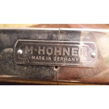 Custom M-Hohner Harmonica  Rare Double Bass Germany 23 Inch 48 Chord Harmonica  Not Sure Chrome and wood