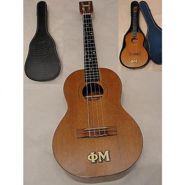 Custom Harmony All Soild Mahogany Baritone Ukulele w Original Case made in USA 1966 Natural