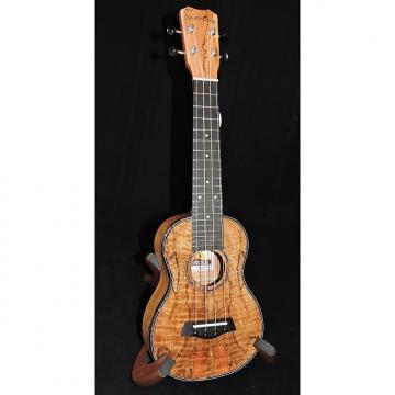 Custom Islander By Kanile'a MAS-4-G Spalted Maple Soprano Gloss Ukulele