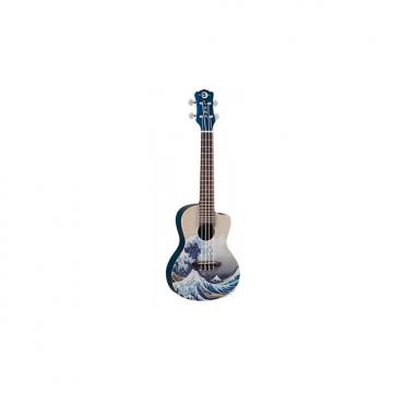 Custom Luna Guitars Great Wave Concert Ukulele with Gig Bag