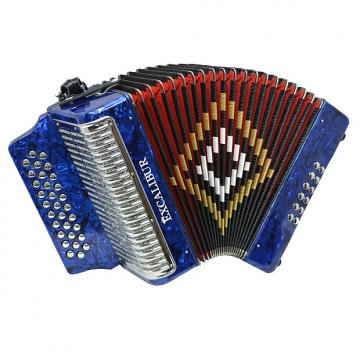 Custom Excalibur Super Classic PSI 3 Row - Button Accordion - Blue -  Key of FBE