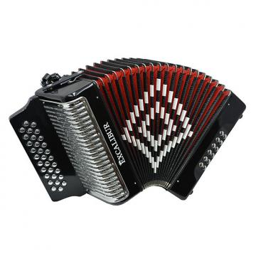 Custom Excalibur Super Classic PSI 3 Row - Button Accordion - Black - Key of ADG
