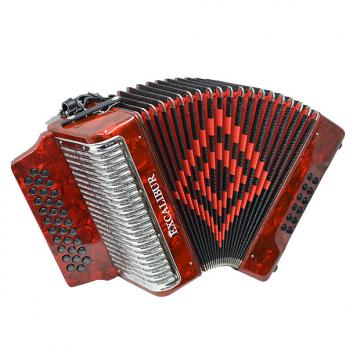 Custom Excalibur Super Classic PSI 3 Row - Button Accordion - Red - Key of GCF