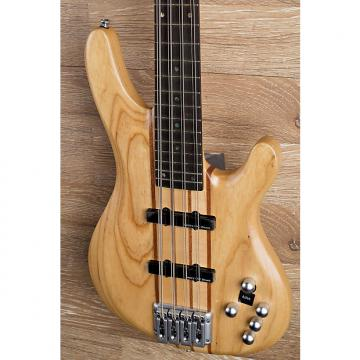 Custom 2017 Wolf 8 String Natural Satin Solid Ash Neck-Through Bass   2/8