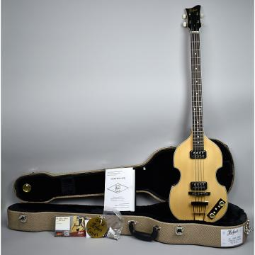 Custom Hofner H500/1 Gold Label Berlin Madrone Burl Violin Bass GL-VBB-MBU Natural OHSC