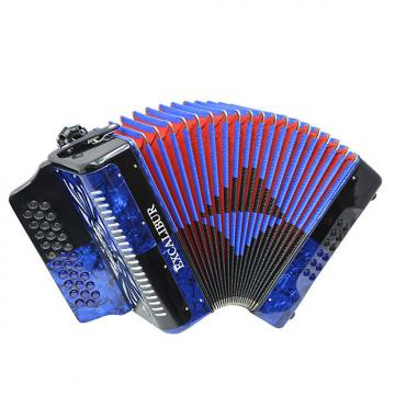 Custom Excalibur Super Classic PSI 3 Row - Button Accordion - Blue/Black -  Key of GCF