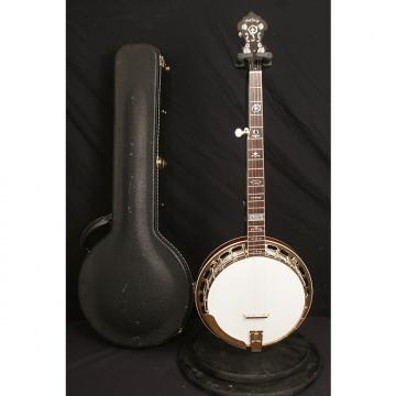 Custom Hatfield Custom Mahogany 5 string flathead banjo all original with a nice hardshell case
