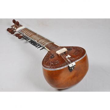 Custom Ravi Shankar Style Teak Wood Full Carving Sitar