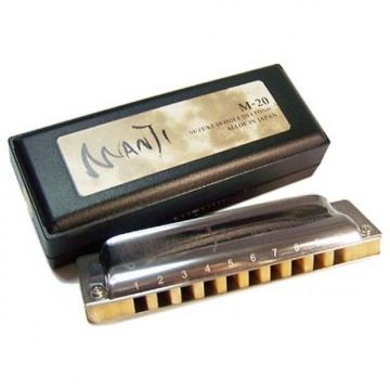 Custom Suzuki M-20 Manji Diatonic Harmonica, Key of Low D. New, with Full Warranty!