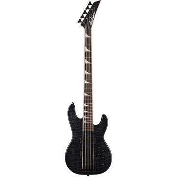 Custom Jackson JS3V Quilted Maple Transparent Black Concert Bass
