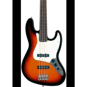 Custom Fender Standard Fretless Jazz Bass Guitar  Brown Sunburst Rosewood Fretboard
