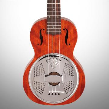 Custom Gretsch G9112 Biscuit Resonator Concert Ukulele, Vintage Mahogany Stain (with Gig Bag)