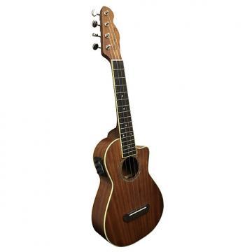 Custom Fender UK MINO'AKA Koa CE Koa Ukulele Acoustic-Electric