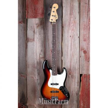 Custom Fender® Standard Jazz Bass 4 String Bass Electric Guitar SS RW FB Brown Sunburst