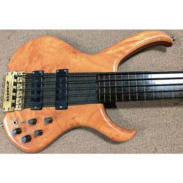 Custom 1980's Clover Slapper 5 String Fretless Bass Guitar, Headless, Composite Neck Thru, Bartolini