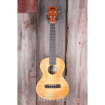 Custom Kala KA TEME Exotic Tenor Acoustic Electric Ukulele All Mah Uke w Built in Tuner