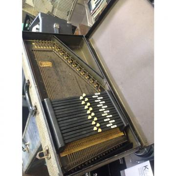 Custom VINTAGE AUTOHARP & Case / Beautiful Antique Look / Oscar Schmidt AS IS needs TLC