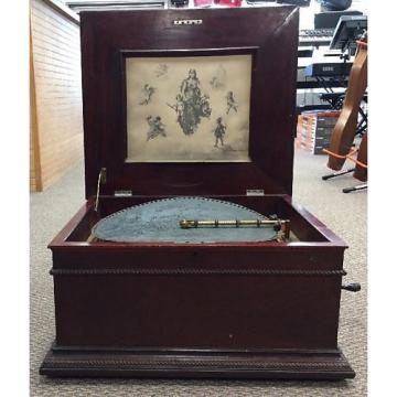 "Custom Regina  Antique Regina Mahogany 15.5"" Music Box Circa 1900"