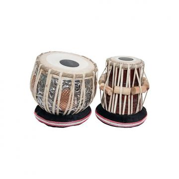 "Custom banjira Pro Tabla Set Embossed Heavy Copper Bayan and 5.5"" Dayan BLEMISHED"