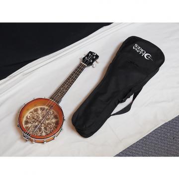 "Custom LUNA Ulu 8"" Soprano Banjolele Banjo UKULELE new w/ Gig Bag - Ulu Laser Etch - B"