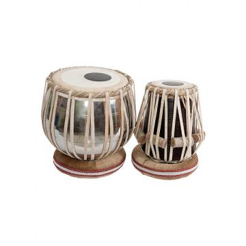 "Custom banjira Pro Tabla Set Heavy Nickel Plated Brass Bayan and 5.50"" Dayan"