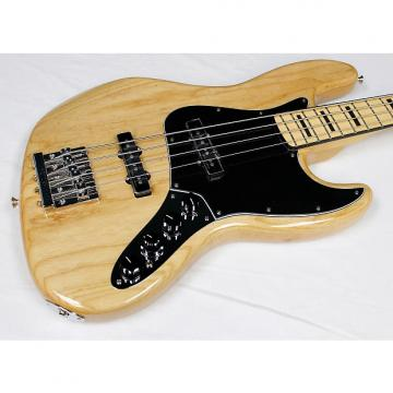 Custom Fender Deluxe Active Jazz Bass w/GB, Natural Ash Finish, Maple FB, NEW! #36250-2