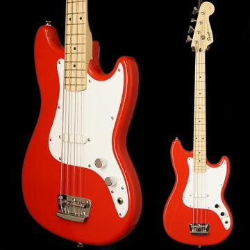 Custom Squier Bronco Bass, Maple Fingerboard, Torino Red