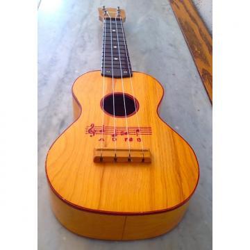 Custom Harmony Soprano stenciled uke 1950's vintage Amber Natural