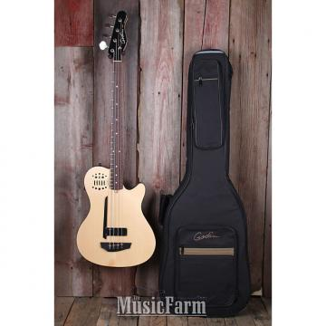 Custom Godin A4 Ultra SA Fretted Semi Acoustic 4 String Bass Guitar Natural w Gig Bag