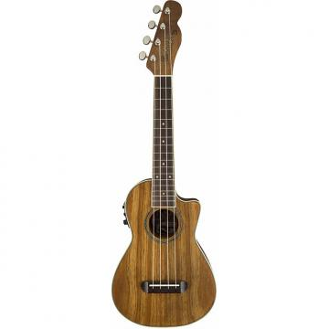 Custom Fender Mino'Aka Concert Ukulele Koa CE Acoustic/Electric