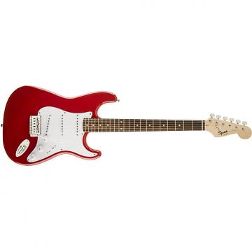 Custom Squier Bullet® Strat® with Tremolo Fiesta Red
