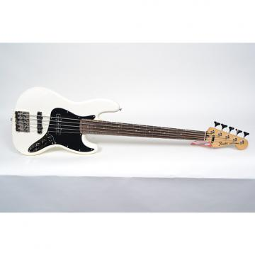 Custom Fender Deluxe Active Jazz Bass V 5 String Bass Vintage White
