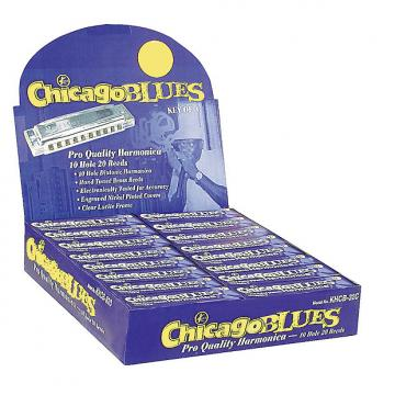 Custom Chicago Blues KHCB-32C Harmonica Display - 32 Harps in the Keys of C