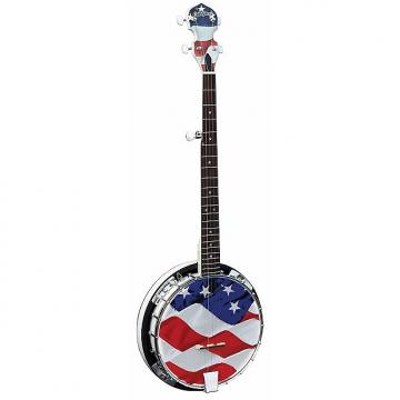 Custom New Morgan Monroe USA-OGB Old Glory 5-String Bluegrass Banjo, American Flag +Free Shipping