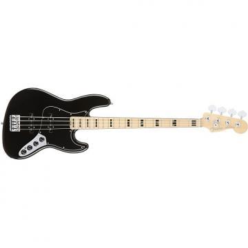 Custom Fender American Elite Jazz Bass 0197002706 Black w/ Maple Fingerboard