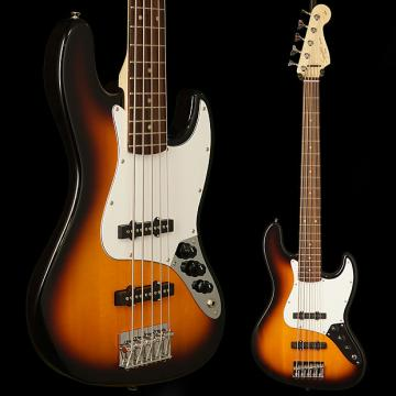 Custom Squier Affinity Jazz Bass V (5 String), Rosewood Fingerboard, Brown Sunburst