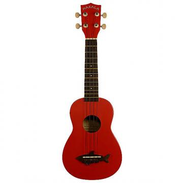 Custom Kala MK-SS/RED Makala Shark Soprano Ukulele - Satin Red Sea
