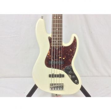 Custom Fender American Jazz Bass V 2008 White with TSA Fender Hard Case