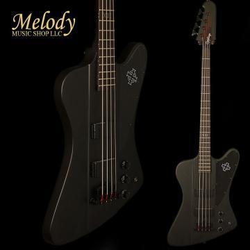Custom Epiphone EBTBPBBH1 Goth Thunderbird-IV Bass Black Satin Black Hardware