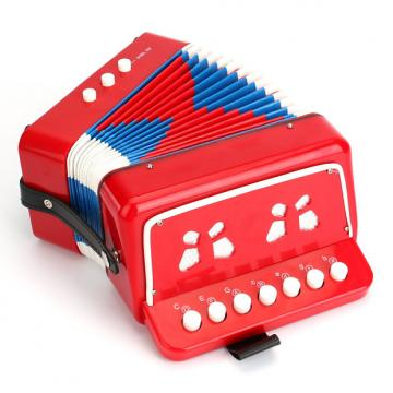 Custom Tosnail Kids Piano Percussion Accordion Musical Toy, Red