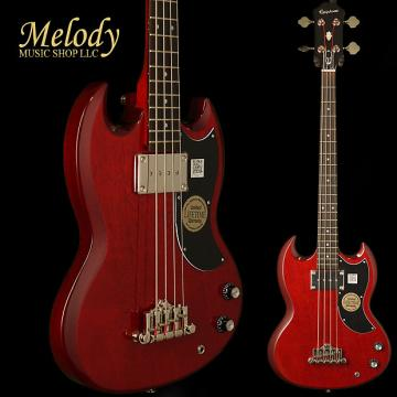 Custom Epiphone EBG0CHCH1 EB-0 Bass (1 P/U) Cherry Chrome Hardware