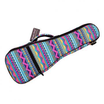 """Custom MUSIC FIRST Cotton 23""""/24"""" Concert Pink Geometric Patterned Ukulele Bag Ukulele"""