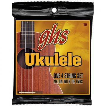 Custom GHS Strings 10 Set, Hawaiian D-Tuning Ukulele Strings, Clear Nylon