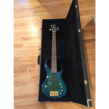 Custom Pedulla Thunderbolt 5 1999 Flame Maple Green Blue Sunburst