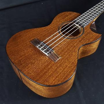 Custom New KALA KA-SMHT-SC All Solid Mahogany Tenor Scalloped Cutaway Ukulele