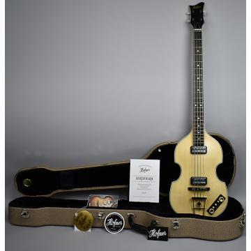 Custom Hofner H500/1 Gold Label Berlin Nussbaum Violin Bass GL-VBB-NB Natural w/OHSC Natural