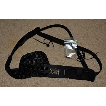 Custom Deering Woven Black Leather Banjo Strap