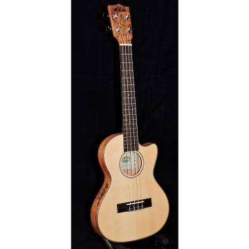 Custom Kala KA-SSTU-SMT-C Spruce Top Spalted Maple Back Travel Tenor Ukulele With Bag